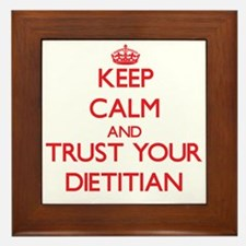 Keep Calm and trust your Dietitian Framed Tile