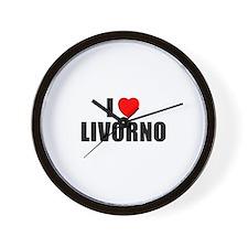 I Love Livorno, Italy Wall Clock