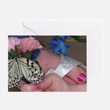 Butterfly on a Foot Greeting Card