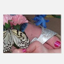 Butterfly on a Foot Postcards (Package of 8)