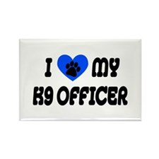 Love My K9 Officer Rectangle Magnet