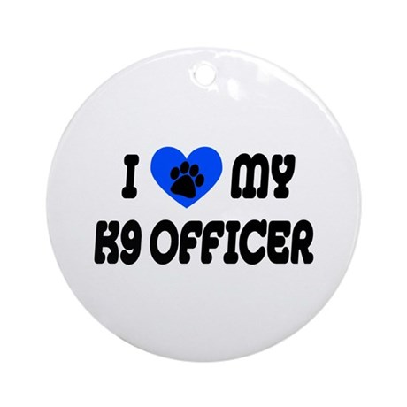 Love My K9 Officer Ornament (Round)