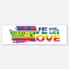 Live Let Love WA Bumper Bumper Bumper Sticker