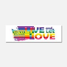Live Let Love WA Car Magnet 10 x 3