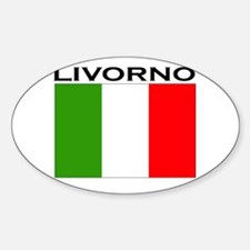 Livorno, Italy Oval Decal
