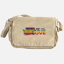 Live Let Love WA Messenger Bag