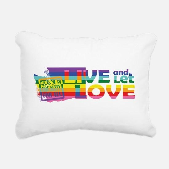 Live Let Love WA Rectangular Canvas Pillow