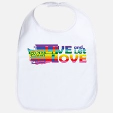 Live Let Love WA Bib
