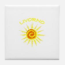 Livorno, Italy Tile Coaster