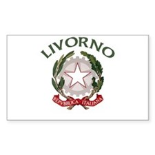 Livorno, Italy Rectangle Decal