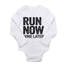 Run Now Wine Later Body Suit