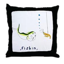 Fishin Throw Pillow