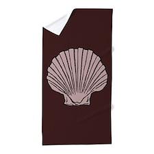 Chocolate Scallop Shell Beach Towel