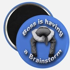 Bad Boss Brainstorm Magnet for Workers