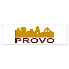 Provo Skyline Bumper Bumper Sticker