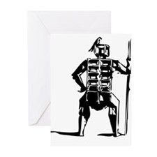 Bird and spear Greeting Cards (Pk of 10)