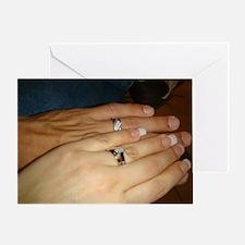 White Gold Wedding Rings Greeting Card
