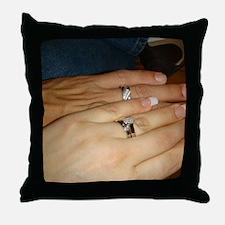 White Gold Wedding Rings Throw Pillow