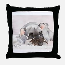 Miniature Schnauzer Stuff! Throw Pillow