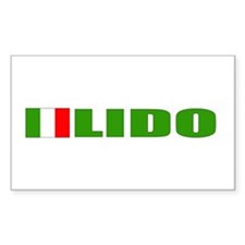 Lido, Italy Rectangle Decal