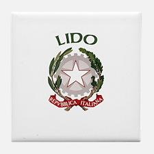 Lido, Italy Tile Coaster