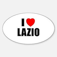 I Love Lazio, Italy Oval Decal
