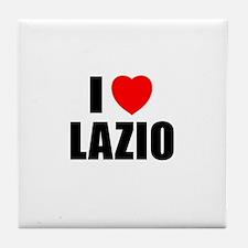 I Love Lazio, Italy Tile Coaster