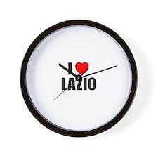 I Love Lazio, Italy Wall Clock