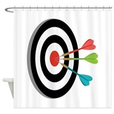 Bulls eye Shower Curtain