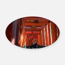 torii gate tunnel Oval Car Magnet