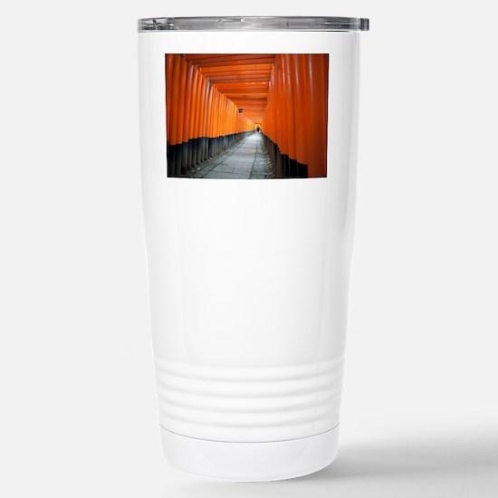 red torii gates Stainless Steel Travel Mug
