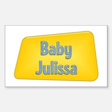 Baby Julissa Rectangle Decal