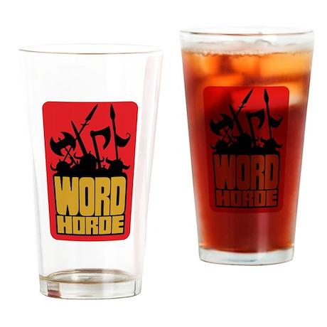 Word Horde Pint Drinking Glass