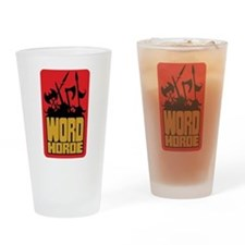 Word Horde Pint Drinking Glass