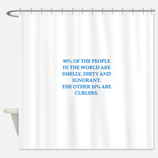 curler Shower Curtain