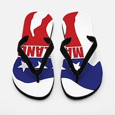 Maryland Democrat Donkey Flip Flops