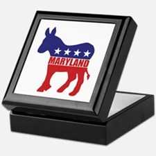 Maryland Democrat Donkey Keepsake Box