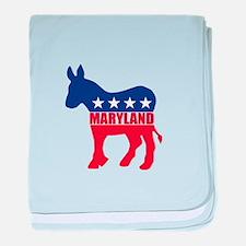 Maryland Democrat Donkey baby blanket
