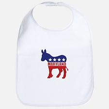 Maryland Democrat Donkey Bib