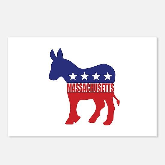Massachusetts Democrat Donkey Postcards (Package o