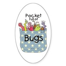 Pocket full of Bugs! #3 Oval Decal
