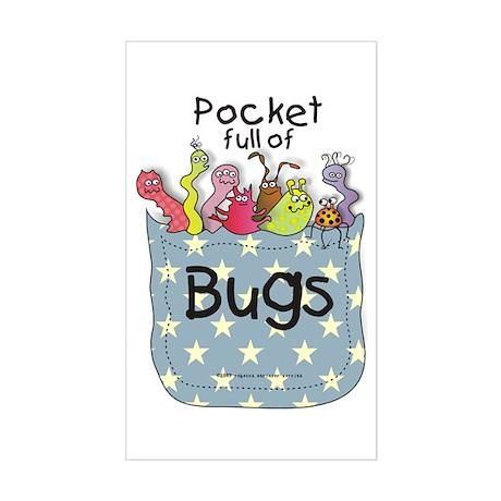 Pocket full of Bugs! #3 Rectangle Sticker