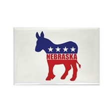 Nebraska Democrat Donkey Magnets