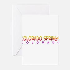 Colorado Springs, CO. Greeting Cards (Pk of 10