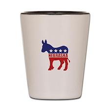Nebraska Democrat Donkey Shot Glass