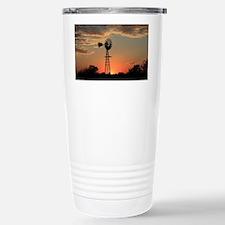 Kansas Country Golden W Stainless Steel Travel Mug