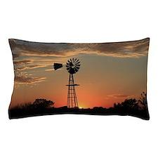 Kansas Country Golden Windmill Silhoue Pillow Case