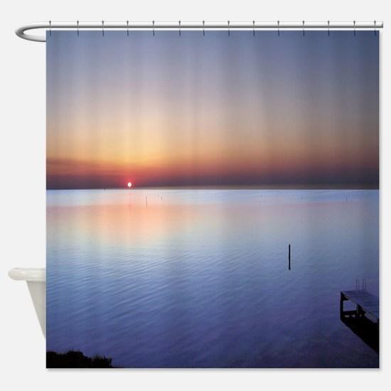 Low Beach Sunset (OBX) Shower Curtain