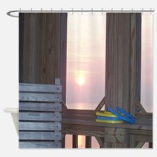 Sunset and Horseshoes Shower Curtain