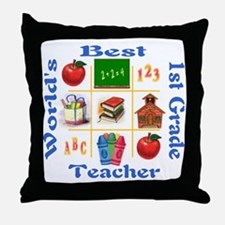 1st grade Throw Pillow